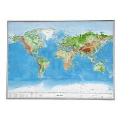 Carte Du Monde 3d by Georelief Le Monde Grand Format Carte Mondiale