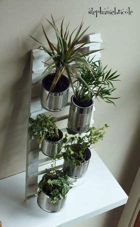 diy deco recup faire une echelle pour accrocher des plantes stephanie bricole