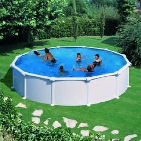 piscine hors sol acier blanc 460 x 132 achat vente piscine piscine hors sol acier blan