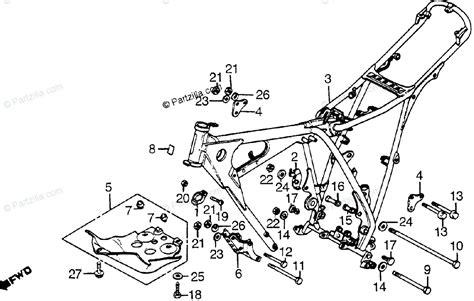 honda motorcycle 1982 oem parts diagram for frame partzilla com