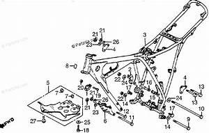 Honda Motorcycle 1982 Oem Parts Diagram For Frame