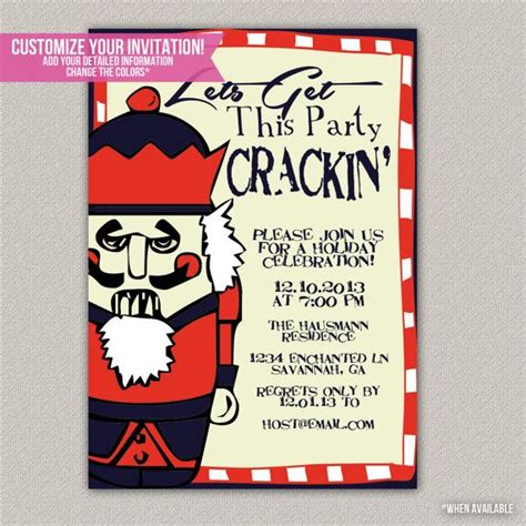 get the party crackin christmas party invitation diy