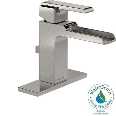 home depot delta ara faucet delta ara single single handle open channel spout