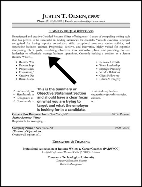 An Objective Sentence On A Resume by Objective Statements On Resume Best Resume Exle