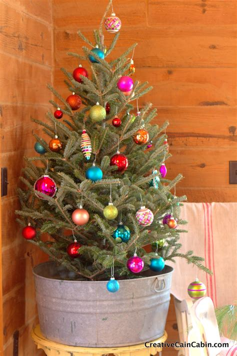 pictures of christmas trees in a wash tub 20 creative ways to repurpose galvanized buckets and tubs home design garden architecture