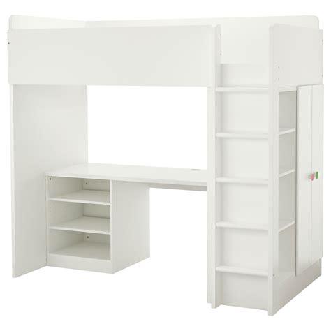 images end table with built in l stuva följa loft bed combo w 2 shelves 2 doors white