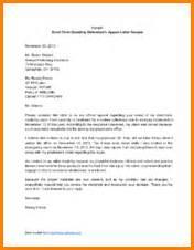 8 appeal letter sample
