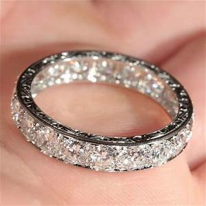 vintage french retro 38ctw diamond eternity ring in With most beautiful wedding ring