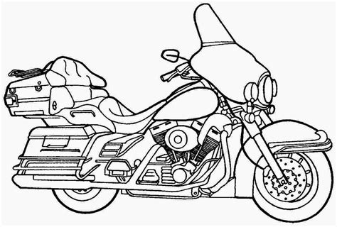 Kleurplaat Harley Davidson by Harley Davidson Drawing At Getdrawings Free For