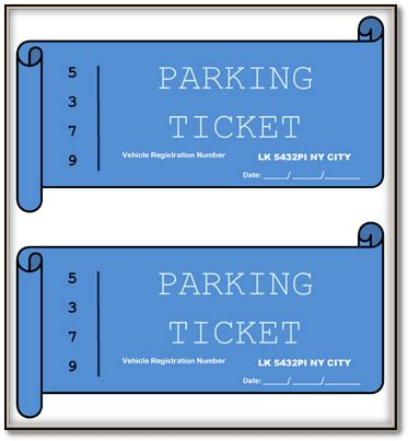 ticket template microsoft word 2007 printable parking ticket templates word pdf format