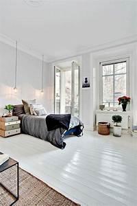 le parquet blanc une jolie tendance deco With parquet blanc chambre