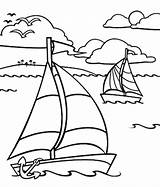 Ocean Coloring Pages Boat Sailing Underwater Printable Drawing Boats Row Dragon Simple Sheets Adult Sail Bestcoloringpagesforkids Plants Getcolorings Ferry Motor sketch template