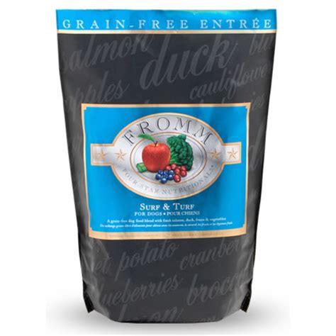 fromm dog food surf turf lb bag  star grain