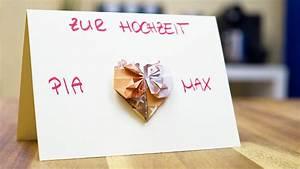 Originelle Hochzeitsgeschenke Zum Selber Basteln : hochzeitsgeschenke selber machen herz gl ckwunschkarte selber basteln youtube ~ Eleganceandgraceweddings.com Haus und Dekorationen