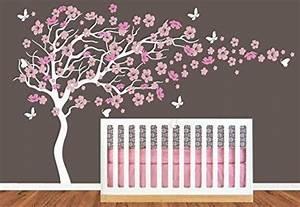 chambre d39enfant grand arbre en fleur de cerisier avec With chambre bébé design avec thé fleur de cerisier