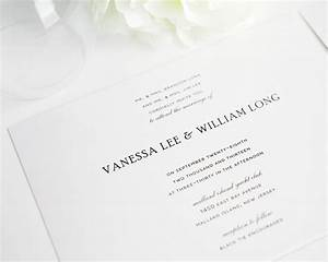 Beautiful basic wedding invitations simple wedding for Simple wedding invitations with pictures