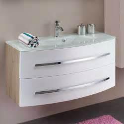 badezimmer deckenleuchten badmöbel set akzentis in weiß eiche mit spiegelschrank