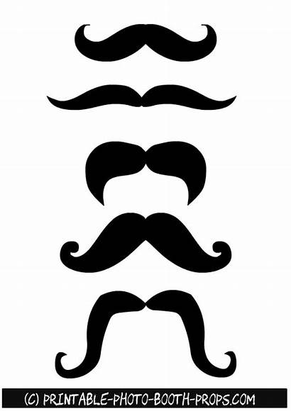 Props Booth Printable Moustaches Photobooth Mustache Printables
