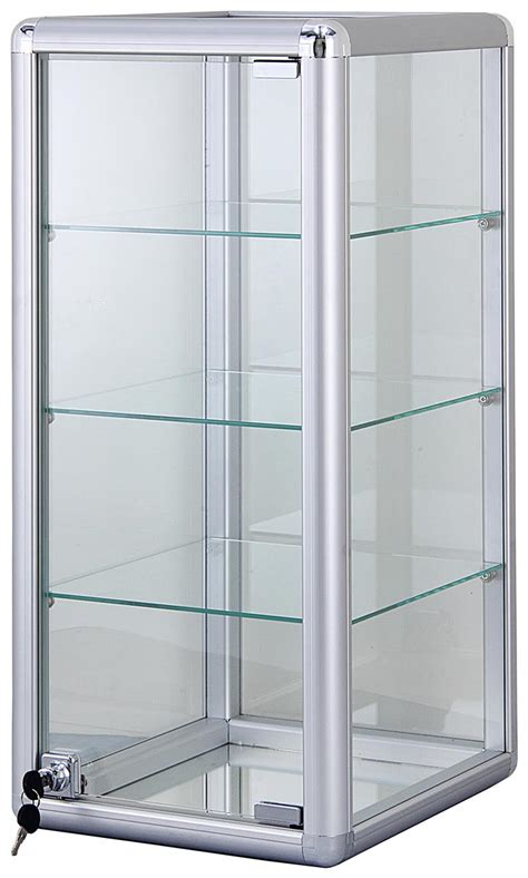 aluminum countertop display case radius edge frame