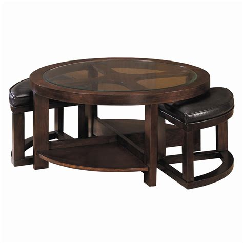 value city coffee tables homelegance 3219 round cocktail table with 2 ottomans