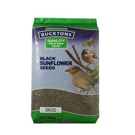 buy bucktons black sunflower wild bird seed 20kg feedem