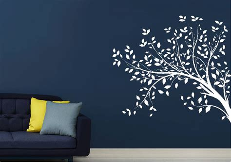 leaves   tree forest wall stickers adhesive wall sticker