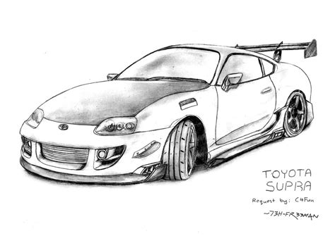 Toyota Supra By 73h-fr33m4n On Deviantart
