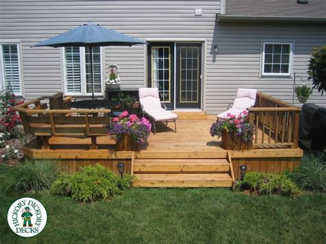Attached Benches Classic Railing For Low Deck Home