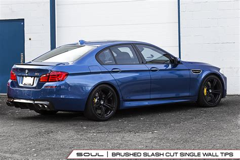 Bmw M5 Exhaust by Bmw F10 M5 Resonated Muffler Bypass Exhaust Soul