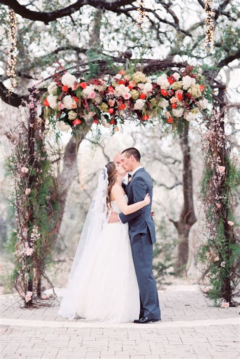 romantic garden wedding ceremony  elizabeth anne