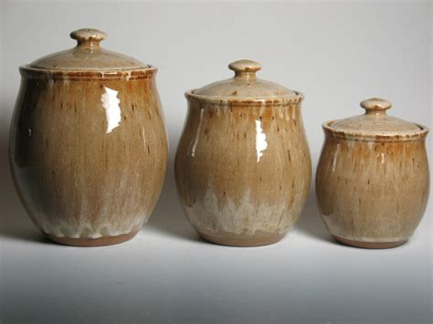 4 kitchen canister sets pottery canister set kitchen canisters stoneware 3