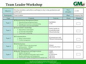 management training program introduction With team training plan template