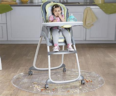 nuby floor mat plastic high chair floor protector clear