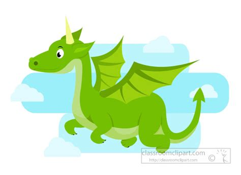 Green-flying-dragon-fairy-tales-clipart