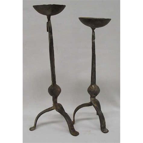iron candle holders cast iron candle holder antique best 2000 antique decor