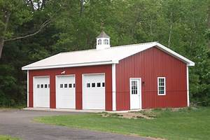 3 car garage kit affordable pole barn garage kits with With barn with loft kit
