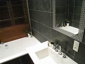 Parement Salle De Bain : minardoises parement de douche sol en ardoise ~ Melissatoandfro.com Idées de Décoration
