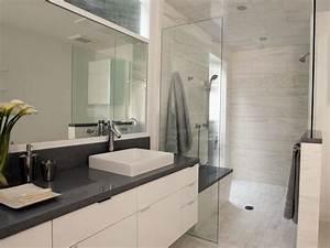 Contemporary White Bathroom | Christopher Grubb | HGTV