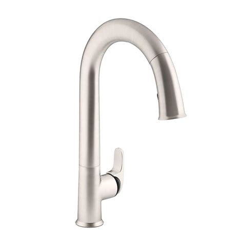 kohler black kitchen faucets kohler sensate ac powered touchless single handle pull down sprayer kitchen faucet in vibrant