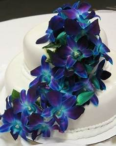 Dendrobium orchids wedding cake | Purple And Blue Orchid ...