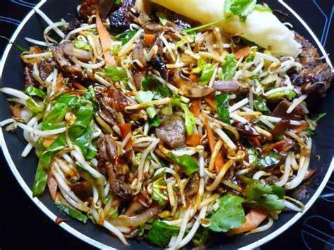 cuisiner les pousses de soja wok de canard laqué aux pousses de soja mexique