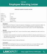 Employee Warning Letter Free Employee Warning Form US LawDepot Employee Misconduct Letter Welcome Letterbusiness Letter Examples Business Letter Examples Of Employee Warning Letter Employee Warning Letter Sample Employee