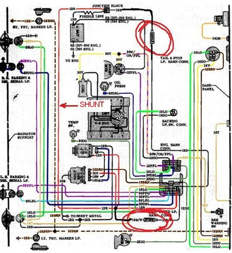 Color Wiring Diagram Finished The 1947 Present Chevrolet Gmc by 72 Chevy Truck Wiring Diagram 72 Wiring Diagrams