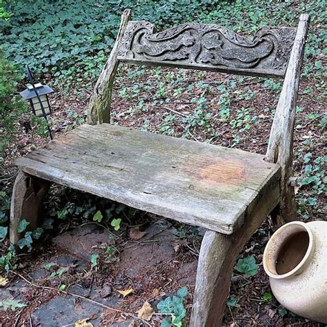 Hometalk  Stencil An Outdoor Bench With Chalk Paint