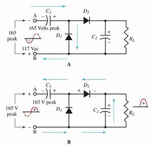 half wave full wave voltage doubler working circuit With full wave frequency doublers using diode and transformer circuit diagram