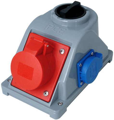 16a stecker mit schalter cee dose 4 16 sw cee wandsteckdose 400v 16a rot m schalter bei reichelt elektronik
