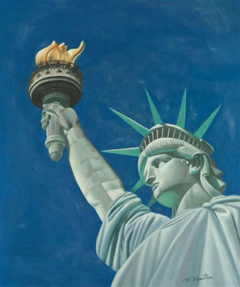 statue  liberty painting
