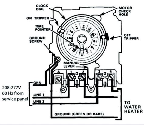need help wiring an intermatic wh40 water heater time switch into the system doityourself