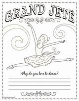 Coloring Pages Dance Jazz Ballet Positions Ballerina Sheets Jete Grand Camp Gymnastics Shine Bright Colouring Diamond Band Dancers Crafts Teach sketch template