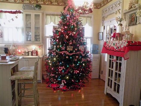 christmas tree in the kitchen christmas kitchen pinterest